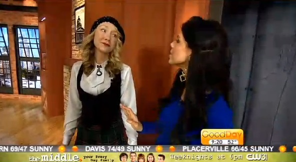 "Phoebe, ""The Dress Fiend,"" on Good Day Sacramento"